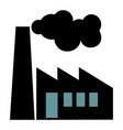old factory silhouette on white background vector image vector image