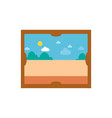 picture with sunny weather vector image vector image