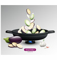 realistic fresh vegetables cooking concept vector image vector image