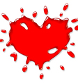 red heart splash vector image vector image