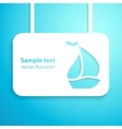 Sail boat applique background vector image
