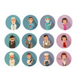 set icon people different professions flat vector image vector image