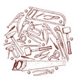 set of repair tools icons vector image vector image