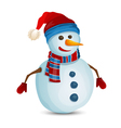 Snowman isolated vector image vector image