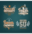 Soccer Badges Set vector image vector image