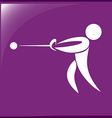 Sport icon design for hammer throwing on purple vector image vector image
