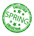 spring collection rubber stamp concept consumerism vector image vector image