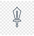swords concept linear icon isolated on vector image