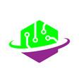 tech logo digital world concept eps vector image vector image