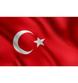 turkish flag turkey country national identity vector image