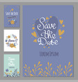 wedding invitation card suite with flower vector image