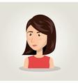 woman cartoon idea think creativity design vector image vector image
