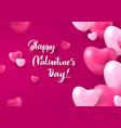 congratulatory card happy valentines day heart vector image