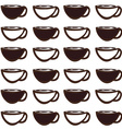 Coffee mug pattern vector image