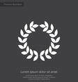 wreath premium icon vector image