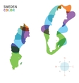 Abstract color map of Sweden vector image vector image