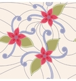 Abstract flowers vintage vector image vector image