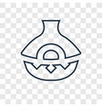 ancient jar concept linear icon isolated on vector image vector image