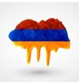 armenian flag painted colors