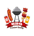 barbecue food vector image vector image