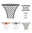 basketball hoop icon cartoon single sport icon vector image