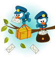 bird postman vector image