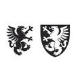 black heraldic rampant griffin vector image vector image