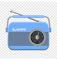 blue old radio mockup realistic style vector image vector image