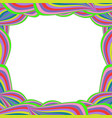 bright multicolored framework with rainbow wavy vector image vector image