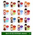 Cartoon characters saying hello in most popular