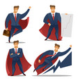 cartoon color characters people businessman vector image vector image