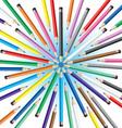 chaotic pencils vector image vector image