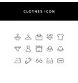 clothes line style icon set vector image vector image