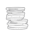 Coins stacks vector image