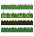 Collection of seamless green grass vector image