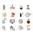 Colored Biotechnology Icon Set vector image