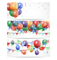 Colorful Birthday Balloon on white Banner vector image