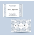 Double-sided ornamental business card vector image vector image