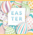 easter background with 3d ornate eggs text and vector image vector image
