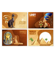 egypt banners set vector image vector image