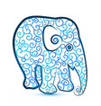 elephant creative stylized cartoon icon vector image