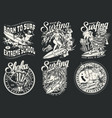 extreme surfing vintage badges vector image vector image