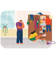 family doing housework couple man and woman clean vector image