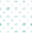 fauna icons pattern seamless white background vector image vector image