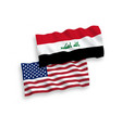 flags iraq and america on a white background vector image