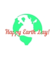 green outline planet with red inscription behind vector image vector image