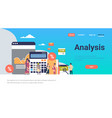 indian business people graph finance analysis vector image