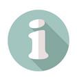 information web icon help faq symbol vector image