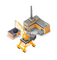 isometric industrial buildings collection vector image vector image