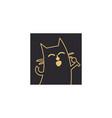 karaoke music logo icon design vector image vector image